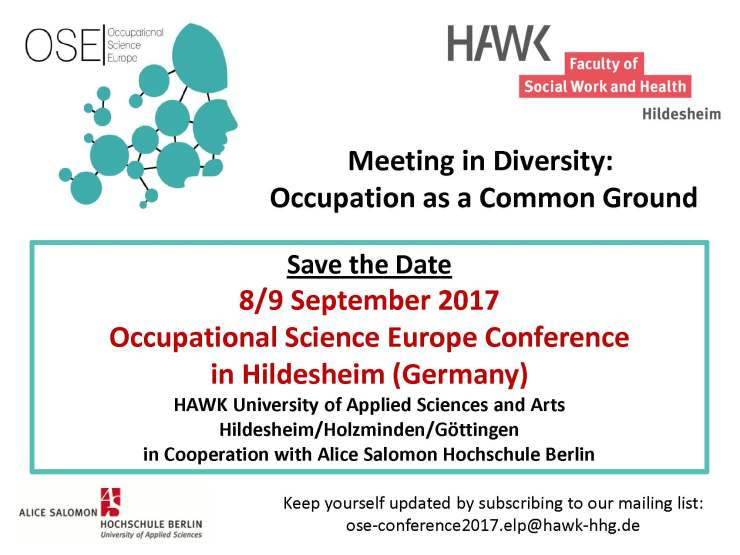 Save the date OSE Conference 2017 Germany